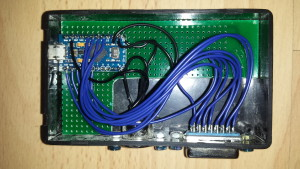 XUM1541 Pro Micro in (open) case