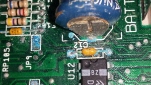 corrosion on the battery